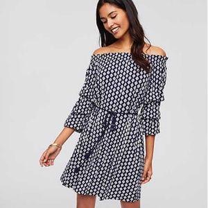 Loft Beach Diamond Off The Shoulder Tassel Dress